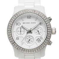 Women's Michael Kors 'Runway Ceramic' Watch, 40mm