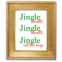 Jingle Bells Holiday Printable Christmas Printable Holiday Decor Christmas Decor Holiday Party Decoration Christmas Song Instant Download