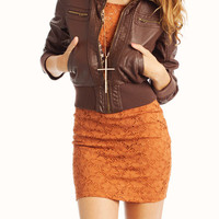 leather-jacket BLACK BROWN - GoJane.com