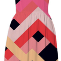 Coral+Black No.1 created by House of Jennifer | Print All Over Me