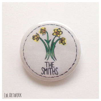 The Smiths Daffidol Logo 25mm Badge Button