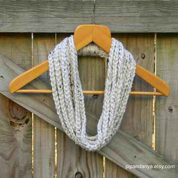 Infinity Chain Scarf, Cowl, Circle Scarf, Winter Scarf, Aspen Tweed