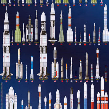 International Space Rockets NASA Education Poster 24x36