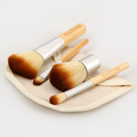 4 PCS High-end Cosmetic Face Make-up Brush Sets Powder Brush with Bag