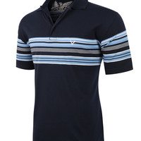 LE3NO PREMIUM Mens Casual Striped Short Sleeve Active Polo Shirt (CLEARANCE)