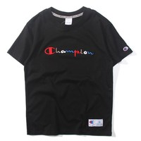 Champion Fashion Embroidery Short sleeve Blouse Top Shirt