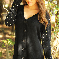 Something To Dance For Cardigan: Black