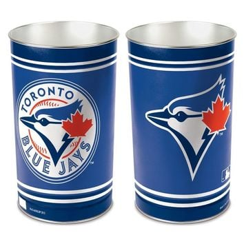 "TORONTO BLUE JAYS 15""X10.5"" TRASH CAN WASTEBASKET BRAND NEW WINCRAFT"