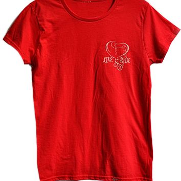 Baby Girl Heart Love Short Sleeve T-shirt