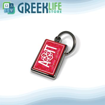 Alpha Omicron Pi Key Chain Metallic