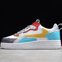 Travis Scott X Nike Air Force 1 Af1 White/ Blue/ Yellow Low Sneakers - Best Online Sale