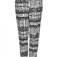 Tall Mono Grid Tapered Trousers - Tall  - Clothing