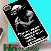 Star Wars Yoda Quotes For Iphone 4/4s, iPhone 5/5s, iPhone 5C, iphone 6, and iPhone 6 Plus Case