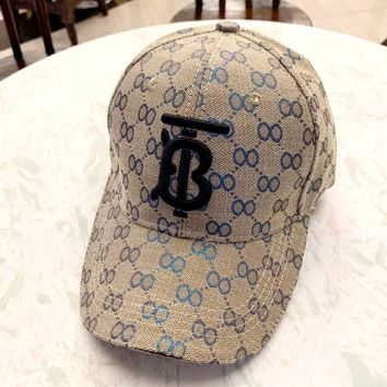 Burberry 2019 new simple wild embroidery TB letter baseball cap #1