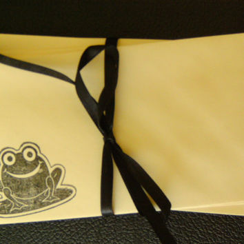 Mini Envelopes Stamped Frog Gift or Business Card