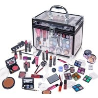 SHANY Carry All Trunk Professional Makeup Kit - Eyeshadow,Pedicure,manicure With Black Trim...
