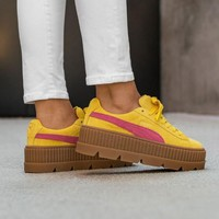 kuyou Rihanna x Puma Fenty Cleated Creeper 'Lemon-Carmine Rose-Vanilla Icee'