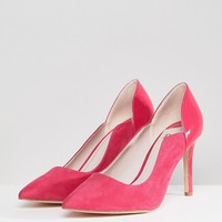 Faith Wide Fit Cassandra Pointed Heeled Shoes at asos.com