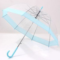 Chic Transparent Windproof Long-Handle Umbrella