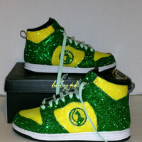 Baby Phat Yellow and Green Sneaker size 7