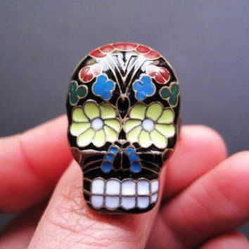 special order today--Fashion Adjustable Colorful Face Ring Gofavor