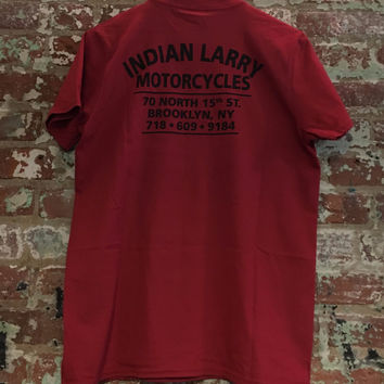 Indian Larry Shop Tee, Red