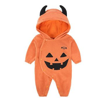 Halloween Baby Boy Girl Romper Autumn Baby Romper pumpkin  jumpsuit Toddler Baby Clothes Fit 6-24 M