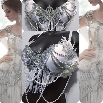2016 White New Years Goddess: rave outfit, New Years, NYE, edm, edc, halloween, costume, festival