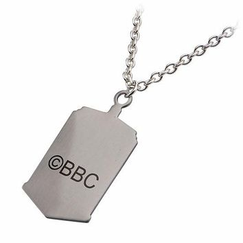 Doctor Who Photo Printed Stamp Cut TARDIS Dog Tag Pendant (DWHOTDNCK02)