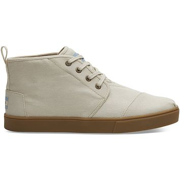 TOMS - Men's Cupsole Venice Collection Natural Textured Twill Boots