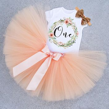 Little Girl Baby Princess Baptism Dress 1 Year Kids Toddler Girls Clothes Kids Infant Party Dress Girl One Birthday Gift Outfit