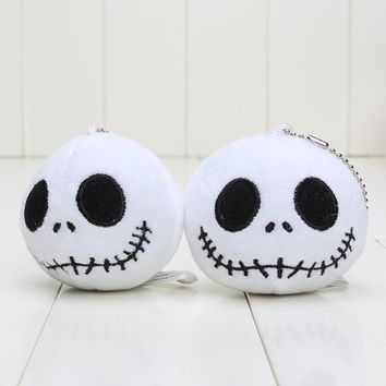 8cm The Nightmare Before Christmas Jack pendant  keychain Plush Toys pendant Dolls Soft Stuffed toys Free shipping