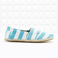 Toms Classic Canvas Slip-On Shoes in Blue Stripe - Urban Outfitters