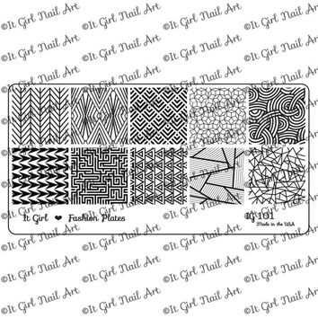 PRE-SALE IG101 Nail Art Stamping Plate