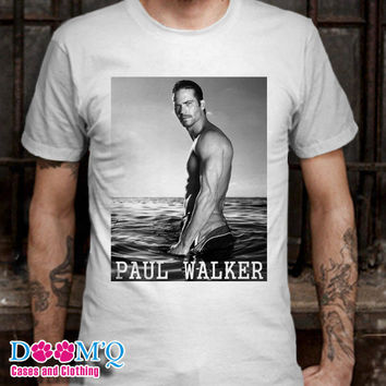 Paul Walker White T-Shirt By : Doomqcases Men's T-Shirt S, M, L, XL