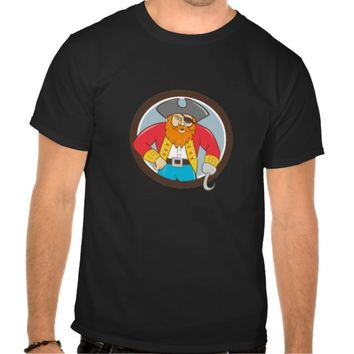Captain Hook Pirate Circle Cartoon Shirts