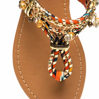 Keep The Chain-ge Floral Sandals GoJane.com