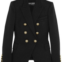 Balmain - Double-breasted piqué blazer
