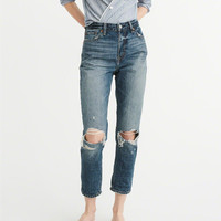 Womens High-Rise Girlfriend Jeans | Womens Clearance | Abercrombie.com