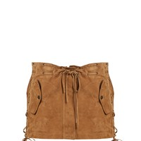 Laced suede mini skirt | Saint Laurent | MATCHESFASHION.COM US