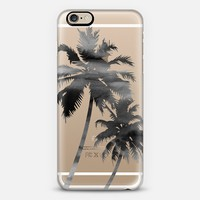 Palm Trees - Watercolor - Black iPhone 6 case by Happy Cat Prints | Casetify