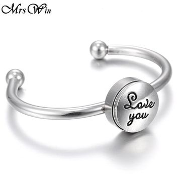 New Real Stainless Steel Bracelets 18mm Silver Snap Bracelet for women  men's watch Cuff Bangle Button Bracelet