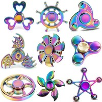 Colorful Fidget Spinner with Triangle Wheel Fly Dragon. Great Toy.