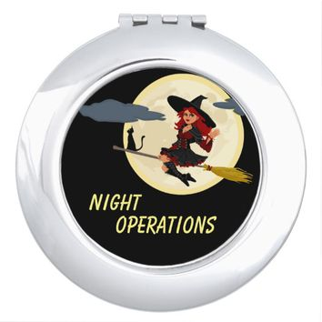 Night Operations funny customizable Makeup Mirror