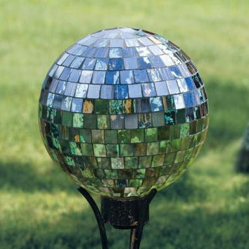 Gazing Ball - Mosaic Mother Of Pearl