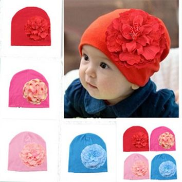 Hot Sale Baby Hat Newborn Photography Cotton Hat Baby Girl Flower Cap Toddler Beanie Hats For Infant Kids Girls Caps Accessories
