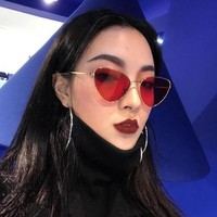 Red Cat Eye Translucent Sunglasses