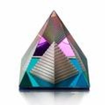 Egyptian Crystal Pyramid Paper Weight Feng Shui Decor