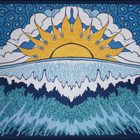 Sunrise Wave Tapestry