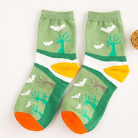 Womens Halloween Print Socks Autumn Winter Gift-08